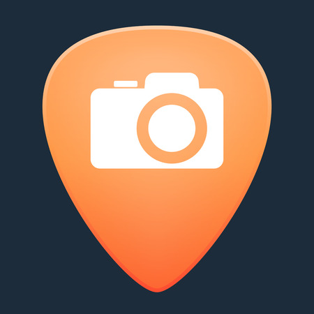 guitar pick: Illustration of an isolated guitar pick with a camera Illustration