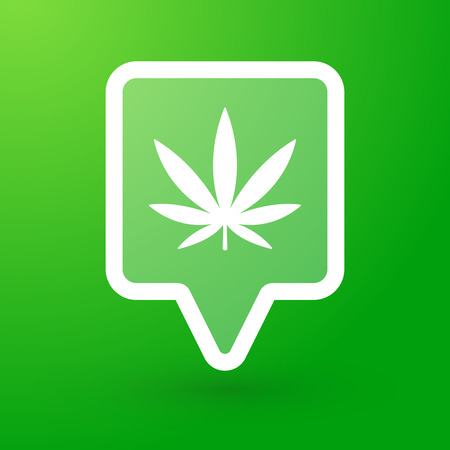 Illustration of a tooltip with a marijuana leaf Vector