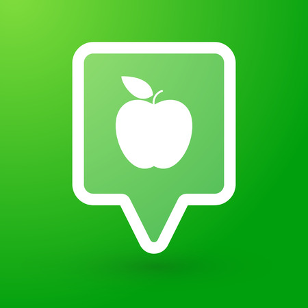 Illustration of a tooltip with a fruit Vector