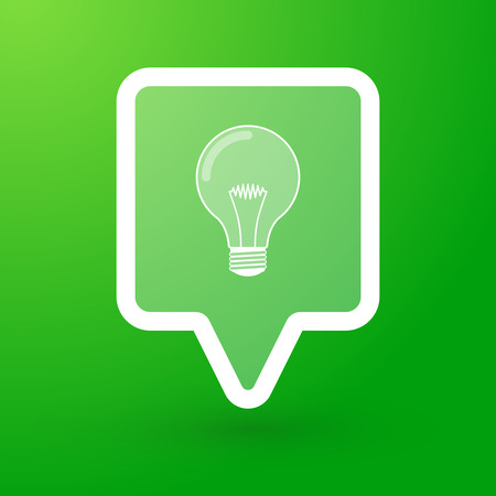 tooltip: Illustration of a tooltip with a lightbulb Illustration