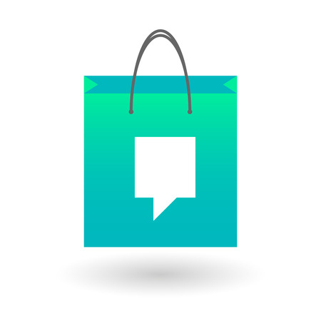 Illustration of an isolated shopping bag with a tooltip Vector