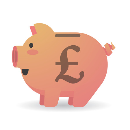 Illustration of an isolated piggy bank with a currency sign Vector