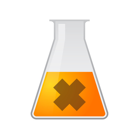 Illustration of a chemical test tube with an irritating substance sign Vector