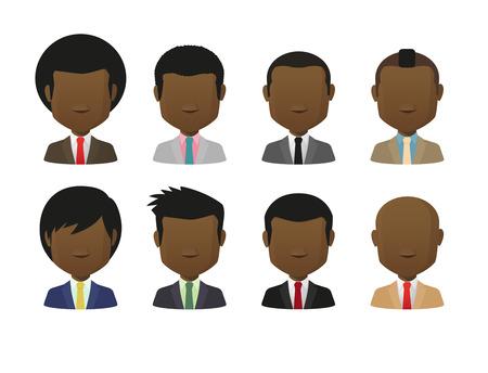 set of men hair styling: Faceless avatarset