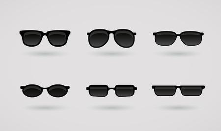 Sun glasses vector set Illustration