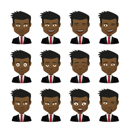 Illustration of an isolated set of face expressions Vector