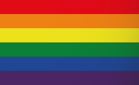 Illustration of a gay pride flag Stock Illustratie