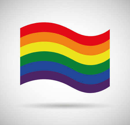 homosexual: Illustration of a gay pride flag Illustration