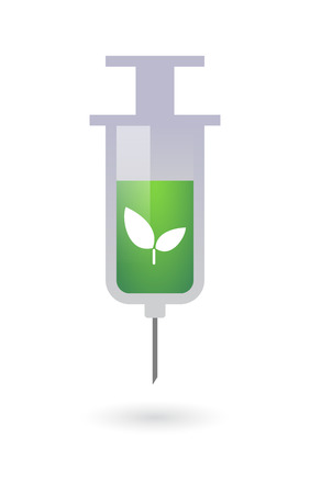 osolated: Illustration of an osolated syringe with a plant