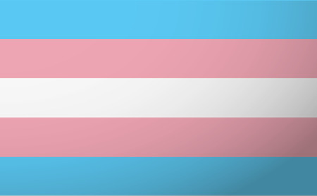 Illustration of an isolated transgender flag