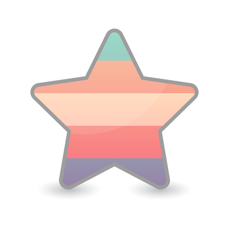 sex discrimination: Illustration of an isolated  star with a transgender pride flag