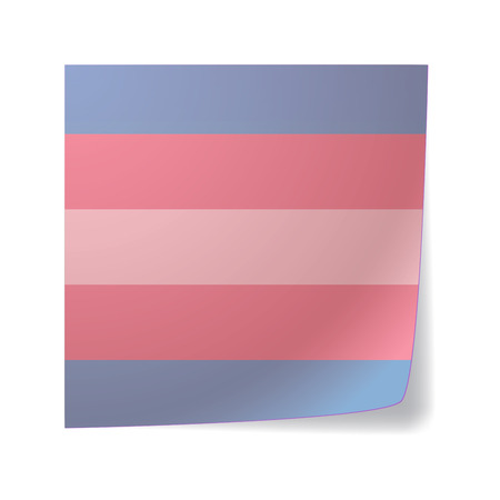 sex discrimination: Isolated sticky note with a transgender pride flag Illustration