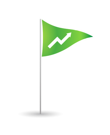Illustration of an isolated flag with a graph Vector