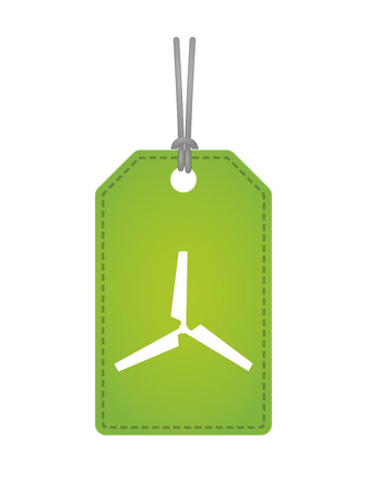 Illustration of an isolated label icon with a propeller Vector