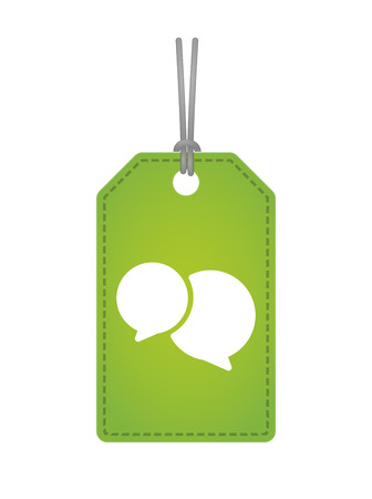 Illustration of an isolated label icon with a comic balloon Vector