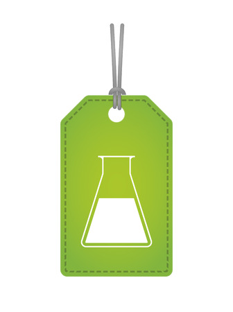 Illustration of an isolated label icon with a chemical test tube Vector