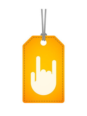 Illustration of an isolated label icon with a hand Vector