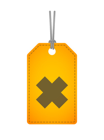 oxidizing: Illustration of an isolated label icon with a irritating substance sign