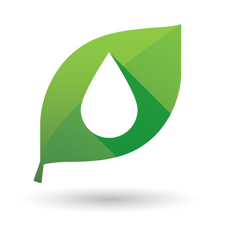 organic fluid: Illustration of an isolated leaf icon with a drop Illustration