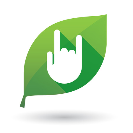 spring roll: Illustration of an isolated green leaf icon with a hand Illustration