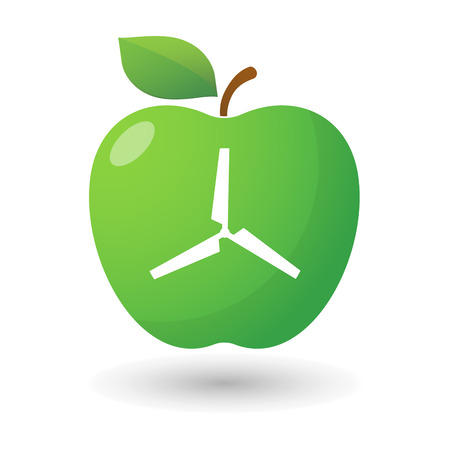 illustration of an isolated apple icon with a propeller