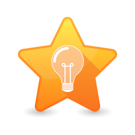 energy ranking: Illustration of an isolated star icon with a light bulb Illustration