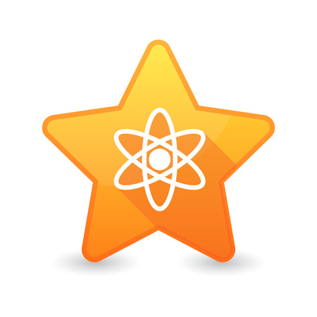 energy ranking: Illustration of an isolated star icon with an atom