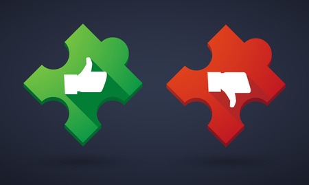 Illustration of a puzzle piece icon set with survey icons Vector
