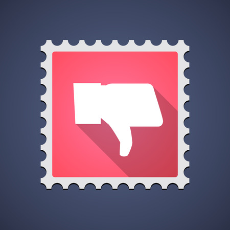 Illustration of a mail stamp icon with a hand Vector