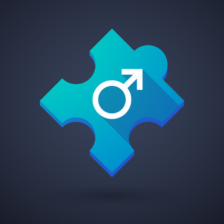 challenging sex: Illustration of a puzzle piece icon with a Illustration