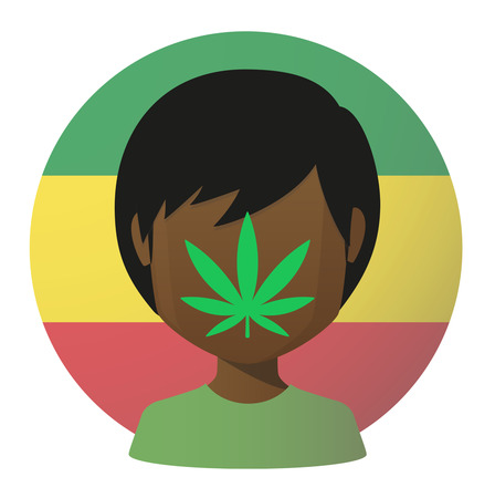 legalize: Illustration of an isolated avatar with a marijuana leaf Illustration