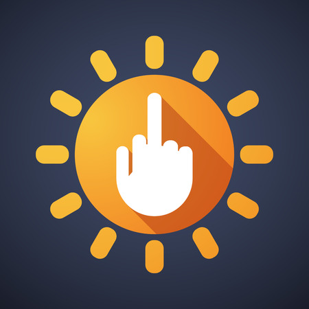 antisocial: Illustration of a sun icon with a hand