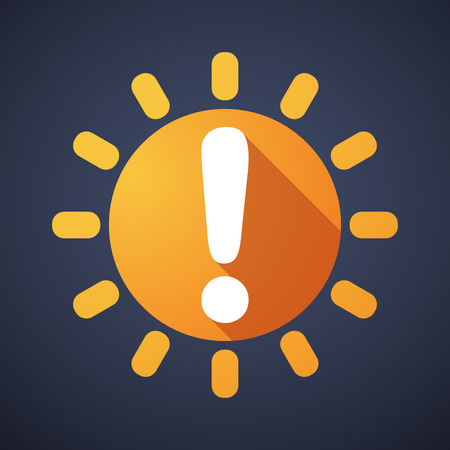 weather report: Illustration of a sun icon with a survey sign