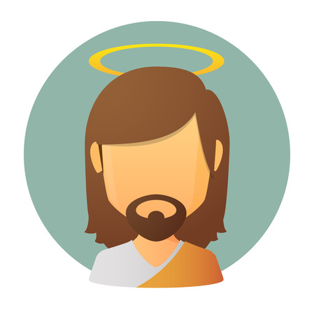Illustration of an isolated Jesus  faceless avatar Illustration
