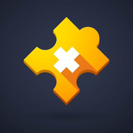 oxidizing: Illustration of a puzzle piece icon with an irritating substance sign Illustration