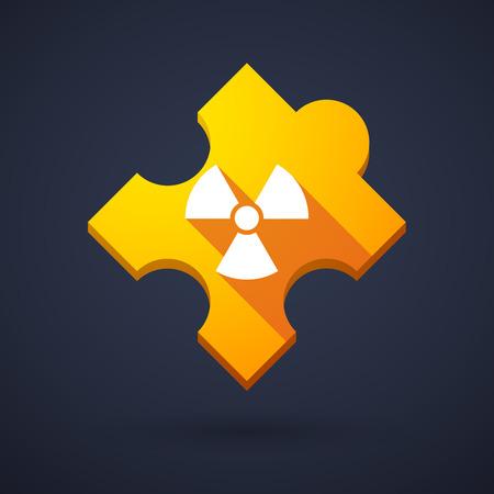 radiactividad: Ilustraci�n de un icono de la pieza del rompecabezas con un signo de la radiactividad Vectores