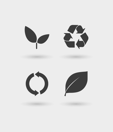 recycling plant: Illustration of an isolated ecology   icon set