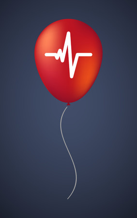 beat: Illustration of a vector balloon with a heart beat sign Illustration