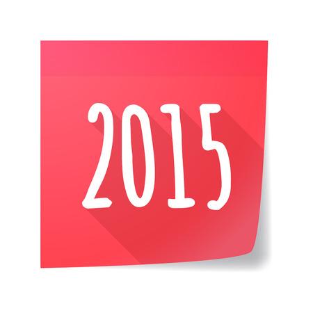 sticky note: Illustration of a  sticky note  year 2015 design