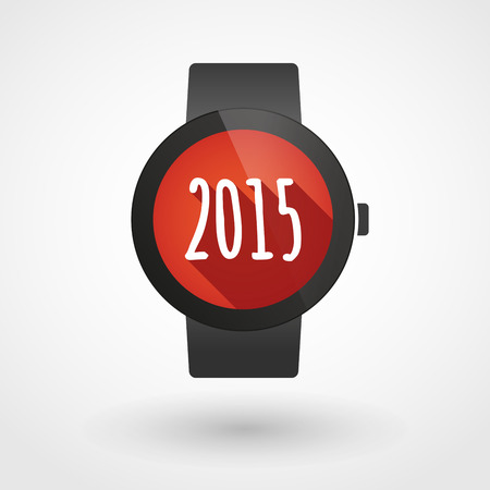 Illustration of a  smart watch  year 2015 design Vector