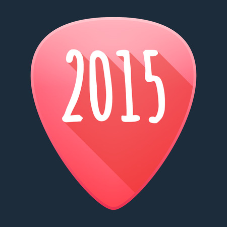 solo  christmas: Illustration of a  guitar pick  year 2015 design Illustration