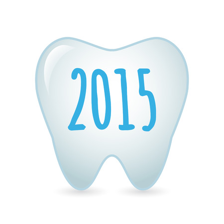 Illustration of a tooth   year 2015 design Vector