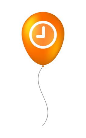 Illustration of a balloon icon with a clock Vector