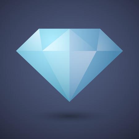 Illustration of a blue  diamond icon