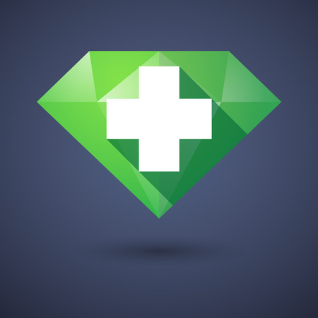 pharmacy sign: Illustration of a diamond icon with a pharmacy sign