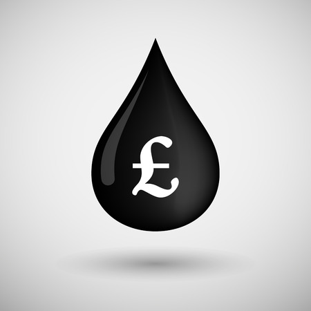 lubricant: Illustration of an oil drop icon with a pound sign Illustration