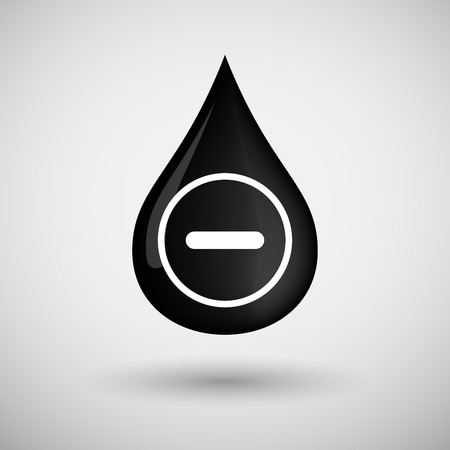 lubricant: Illustration of an oil drop icon with a subtraction sign