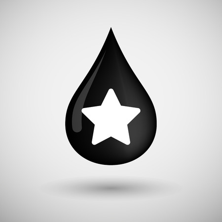 energy ranking: Illustration of an oil drop icon with a star
