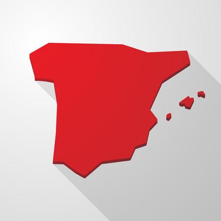 spain map: Illustrazione di una Spagna mappa icona rossa