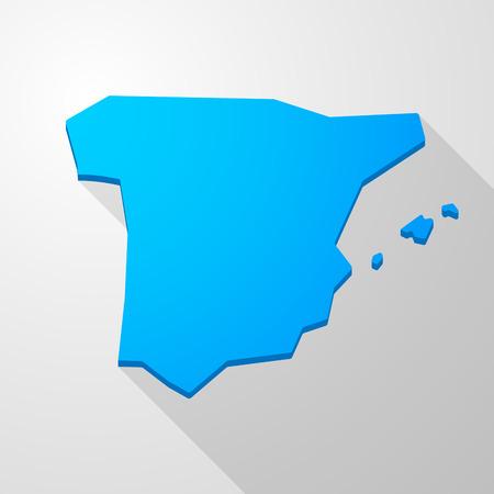spain map: Illustrazione di un blu Spagna Mappa icona Vettoriali